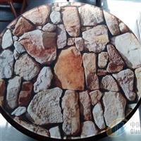定制家具圆型玻璃桌面