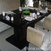 黑色钢化玻璃火锅桌