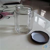 供应六棱蜂蜜玻璃瓶 果酱瓶