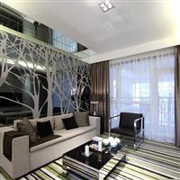 無錫藝術玻玻璃餐廳背景抽象樹