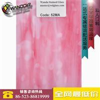 粉色斑点玻璃 艺术玻璃52MA