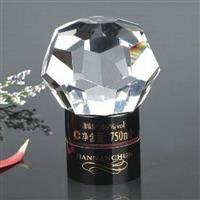 鉆石形水晶玻璃酒瓶蓋