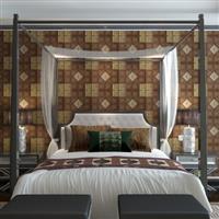 彩盛玻璃酒店皮雕背景墙