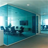 双层透明玻璃隔断