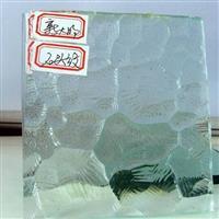优质透明七巧板压花压延玻璃