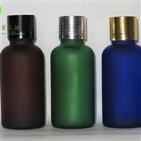 供應綠色蒙砂玻璃瓶精油瓶分裝瓶