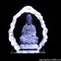 水晶激光内雕定制佛像摆饰