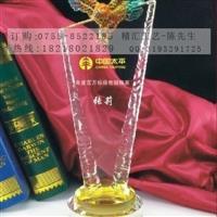销售之星业绩精英水晶奖杯成批出售