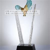 老鹰水晶奖杯成批出售公司颁奖奖杯