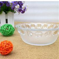 餐具磨砂玻璃碗透明碗米飯碗湯