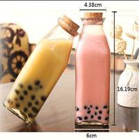 350ml方形泡茶瓶子奶茶瓶