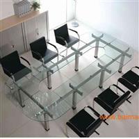 办公桌会议桌餐桌钢化玻璃