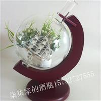 内置帆船地球仪玻璃瓶