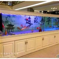 宜興實木歐式魚缸非常高超大魚缸