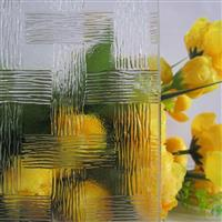 专业生产透明压花玻璃-竹编
