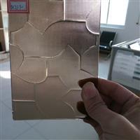 专业生产彩色压花玻璃-茶七巧板