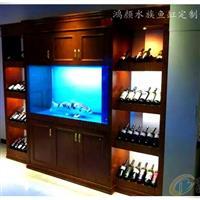 江苏实木鱼缸墙面工程玻璃水族箱