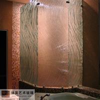 酒店淋浴房隔斷裝飾熱熔玻璃