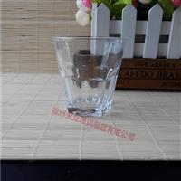 生產廣告杯八角玻璃杯
