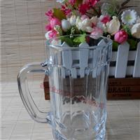 生產廣告啤酒杯把子玻璃杯