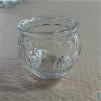 厂家直销透明玻璃莲花烛台