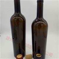 供1000毫升墨绿玻璃葡萄酒瓶