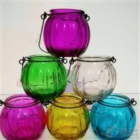 生产玻璃工艺品铁艺南瓜吊兰