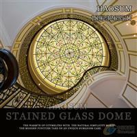 定制高品质教堂彩色玻璃穹顶
