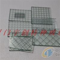 夹丝防暴玻璃 夹丝装饰玻璃