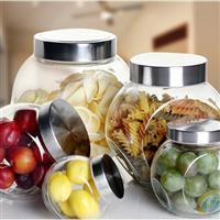 玻璃罐厂家供应优质高白料玻璃储物罐