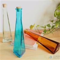 生产定做各类花瓶 彩色玻璃瓶