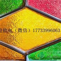 厂家直供彩色压花 海棠玻璃装饰