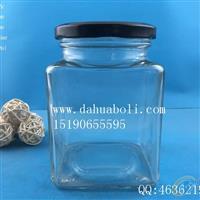 670ml方形蜂蜜玻璃瓶
