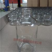 供應透明250毫升玻璃小酒瓶
