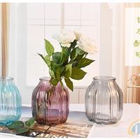 北京玻璃瓶喷色玻璃花瓶插花瓶