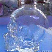 异形工艺品玻璃瓶骷髅头红酒瓶