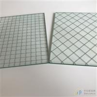 高透菱形格夹铁丝玻璃  门窗玻璃