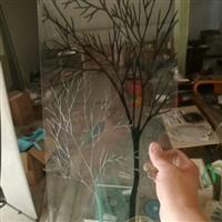 中空鑲嵌異形門芯花玻璃18-30厘定做