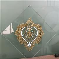愛心桃型圖案菱形門芯玻璃現貨可加工定制