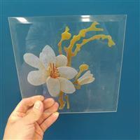 花卉门芯玻璃 彩印丝印玻璃门芯