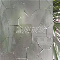 供應壓延玻璃壓花玻璃七巧板
