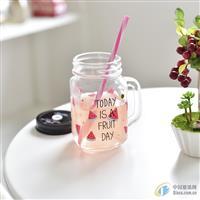 梅森瓶公鸡杯沙冰奶茶果汁冷饮杯