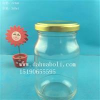 徐州生产340ml圆蜂蜜玻璃瓶