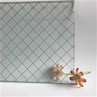 江玻夾鐵絲玻璃廠家 鐵絲網玻璃