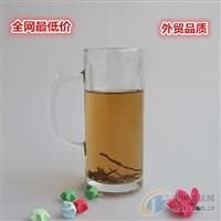 徐州玻璃瓶厂家成批出售透明玻璃水杯 带把啤酒杯