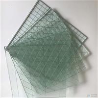 方形格高透明夾鐵絲玻璃