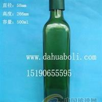厂家直销500ml方形墨绿色橄榄油瓶