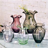 歐式迷你小浮雕玻璃花瓶 透明手工花瓶創意水培插花瓶