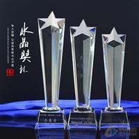 篮球比赛奖品颁发 水晶奖杯三件套深圳厂家