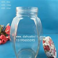 650ml六棱蜂蜜玻璃瓶